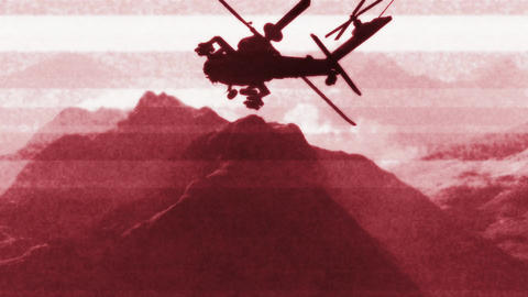 Apaches in Mountains 15 bad signal Stock Video Footage