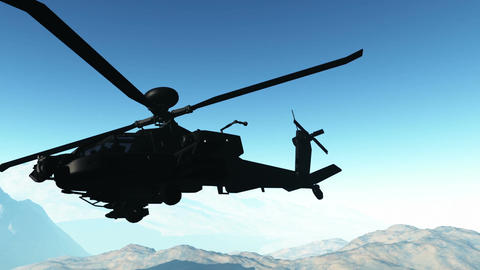 Apaches in Mountains 17 300fps super slow motion Stock Video Footage