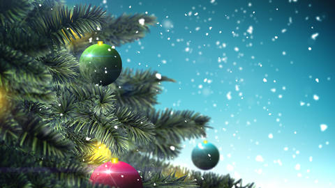 Christmas Tree Loop stock footage