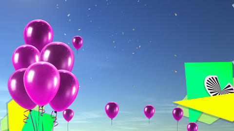 balloon background pink Stock Video Footage