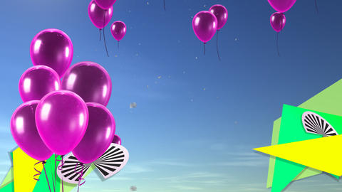 balloon background pink Animation