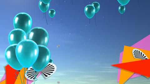 balloon background sea blue Animation