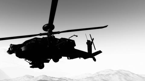 Apaches in Mountains 20 300fps super slow motion Stock Video Footage