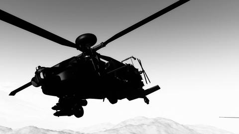 Apaches in Mountains 20 300fps super slow motion Animation