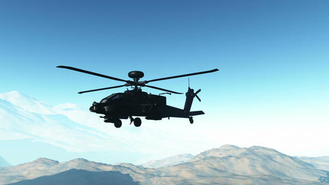 Apaches in Mountains 23 flycam Stock Video Footage