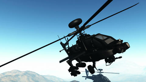 Apaches in Mountains 23 flycam Animation