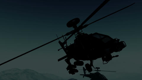 Apaches in Mountains 25 flycam Stock Video Footage