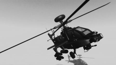 Apaches in Mountains 27 flycam Stock Video Footage