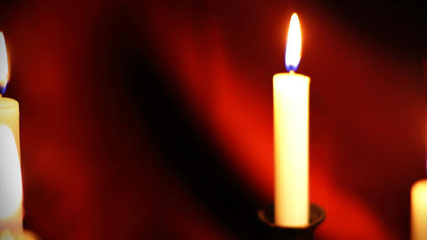 Candles 11 Stock Video Footage