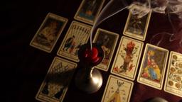 Candles Tarot Cards 01 Stock Video Footage