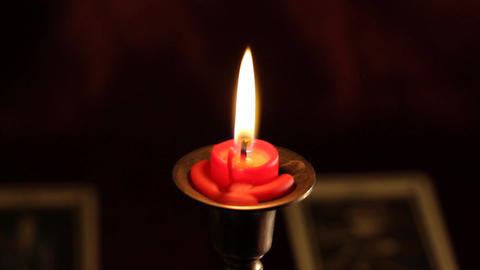 Candles Tarot Cards 05 dolly Stock Video Footage