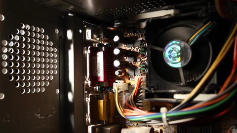 Desktop Computer Inside 13 wideangle Stock Video Footage