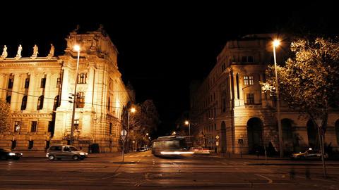 European City Night Timelapse 01 Stock Video Footage
