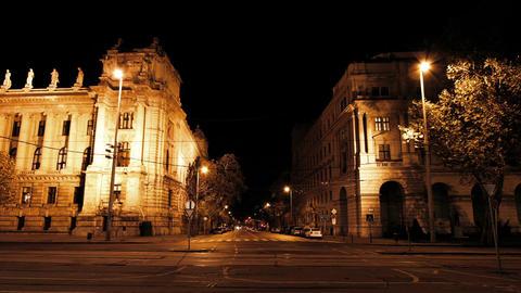 European City Night Timelapse 01 Footage
