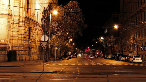 European City Night Timelapse 03 Footage