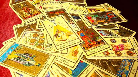 Foreteller Tarot Cards 02 Stock Video Footage