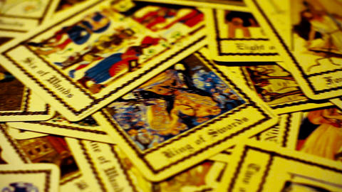 Foreteller Tarot Cards 04 Stock Video Footage