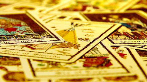 Foreteller Tarot Cards 08 Stock Video Footage