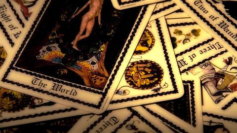 Foreteller Tarot Cards 10 Stock Video Footage