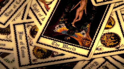 Foreteller Tarot Cards 10 Stock Video Footage