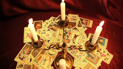 Foreteller Tarot Cards 12 Stock Video Footage