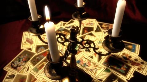 Foreteller Tarot Cards 16 Stock Video Footage
