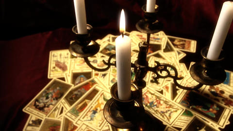 Foreteller Tarot Cards 16 Stock Video Footage