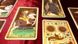 Tarot Cards 02 Dolly Left stock footage