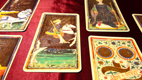 Tarot Cards 02 dolly left Footage