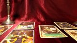 Tarot Cards 04 Dolly Right stock footage
