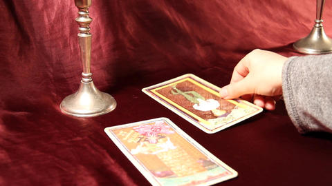 Tarot Cards 06 dolly Stock Video Footage