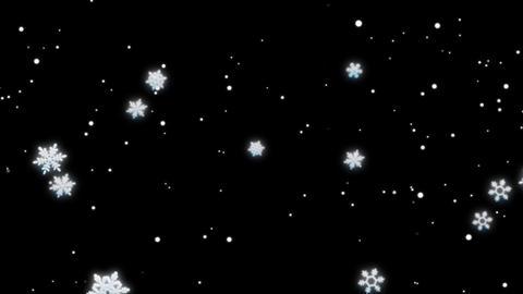 SIMPLE SNOW LOOP Stock Video Footage