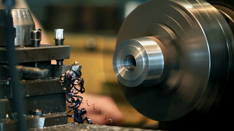 Turning to metal Stock Video Footage