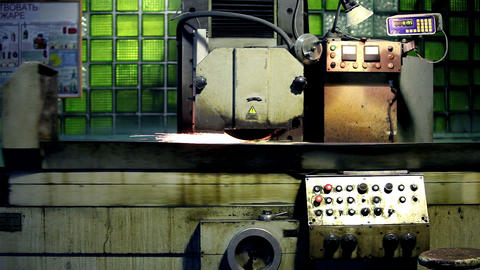 grinding machine Stock Video Footage