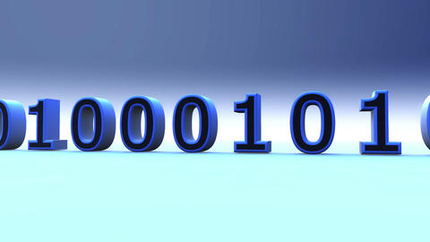 3D Binary World 01 Stock Video Footage