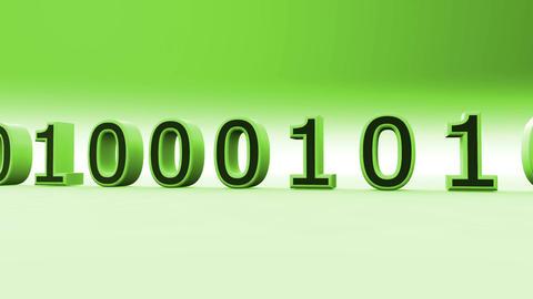 3D Binary World 03 Stock Video Footage