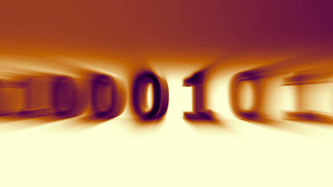 3D Binary World 07 Stock Video Footage