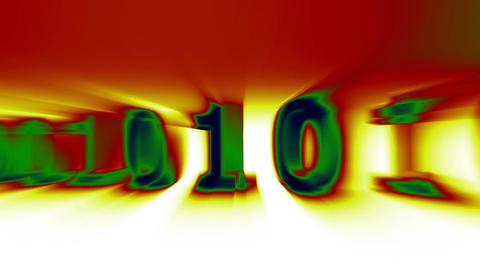 3D Binary World 09 Animation