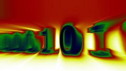 3D Binary World 09 Stock Video Footage