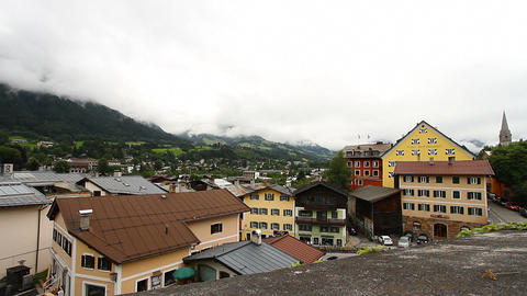 European Mountain Town Tirol 02 Stock Video Footage
