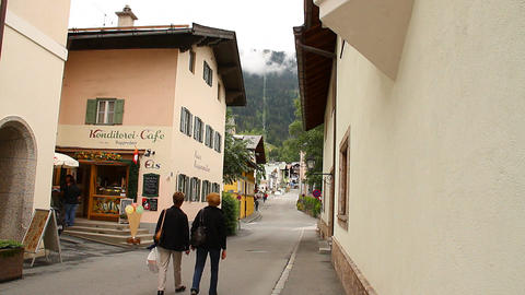 European Mountain Town Tirol 04 Stock Video Footage