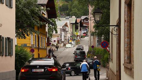 European Town Tirol 05 Stock Video Footage