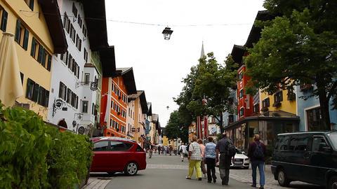 Kitzbuhel Downtown Austria 01 Stock Video Footage