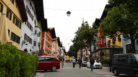 Kitzbuhel Downtown Austria 01 Stock Video Footage