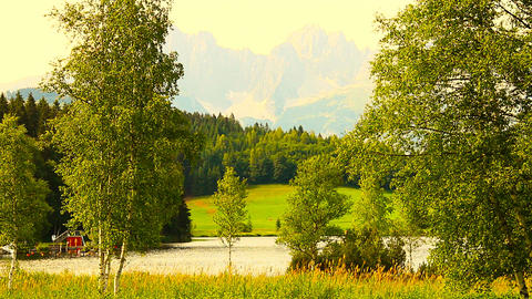 Mountains Beauty Scene 05 ARTCOLORED Stock Video Footage