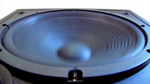 10617 speaker subwoofer loop Stock Video Footage