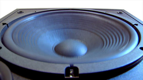 10617 speaker subwoofer loop Stock Video Footage