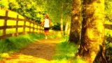 Runner On Nature Path 02 ARTCOLORED Footage