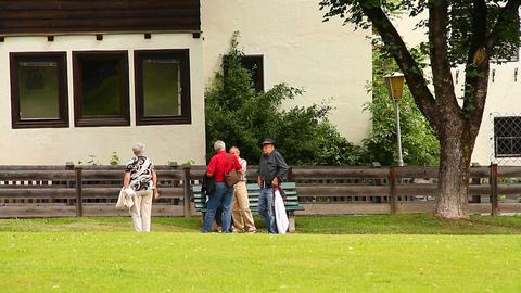 Seniors Relaxing Walking 02 Footage