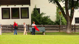 Seniors Relaxing Walking 02 Stock Video Footage